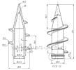 Винтовой наконечник для трубы НКТ 60