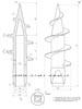 Винтовой наконечник для квадратной трубы 60х60 чертеж