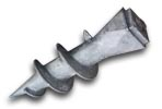 Винтовой наконечник для квадратной трубы 80х80