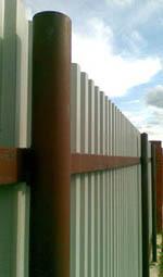 Забор из наших столбов